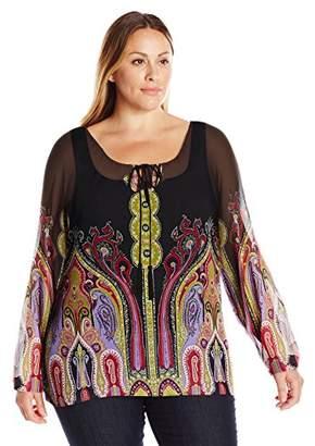Single Dress Women's Plus-Size Peasant Blouse $72.48 thestylecure.com
