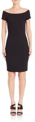 Alice and Olivia Aleah Off-The-Shoulder Dress $330 thestylecure.com