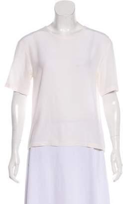 Equipment Silk Short Sleeve Blouse