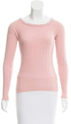 Joseph Cable Knit Angora Sweater