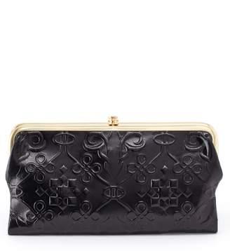 Hobo Lauren Flower Embossed Clutch Wallet