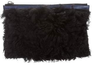 Proenza Schouler Fur Zip Pouch