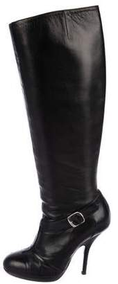 Dries Van Noten Leather High Heel Boots