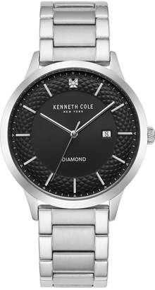 Kenneth Cole New York Men's Diamond-Accent Stainless Steel Bracelet Watch 41mm
