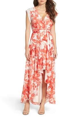 Eliza J Surplice Obi High\u002FLow Dress (Regular & Petite)