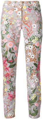 Cambio cropped floral print trousers