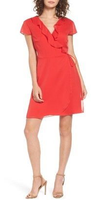 Women's Willow & Clay Ruffle Wrap Dress $89 thestylecure.com