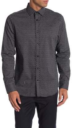 Karl Lagerfeld Paris Dot Patterned Long Sleeve Modern Fit Shirt