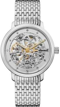 Ingersoll Crown Automatic with Stainless Steel Case and Bracelet and Skeleton Dial