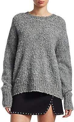 Helmut Lang Women's Brushed Wool Crewneck Sweater