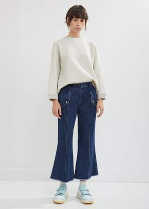 Acne Studios Flared Leg Denim Trousers
