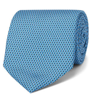 Dunhill 8cm Printed Mulberry Silk Tie