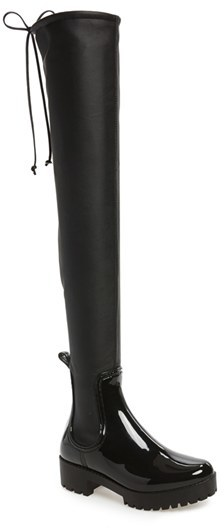 Women's Jeffrey Campbell Cloudy Over The Knee Rain Boot