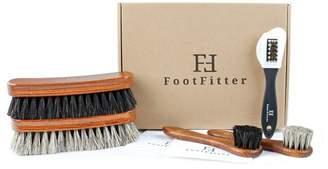 FootFitter Shoe Shine 4 Piece Brush Set