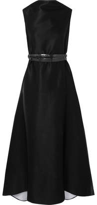 Maticevski Rubiyat Belted Satin Gown - Black