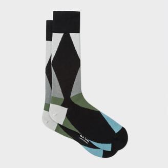Men's Black Geometric Triangle Socks $30 thestylecure.com