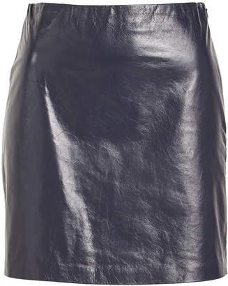Theory Micro Mini Leather Skirt