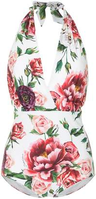 Dolce & Gabbana floral print swim suit