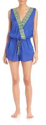 OndadeMar Kufra Embroidered Short Jumpsuit