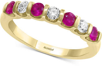 Effy Certified Ruby (3/8 ct. t.w.) & Diamond (1/4 ct. t.w.) Band in 14k Gold