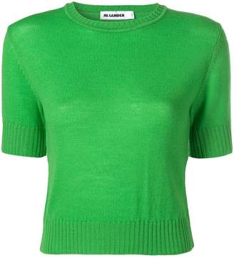 Jil Sander knitted cropped top