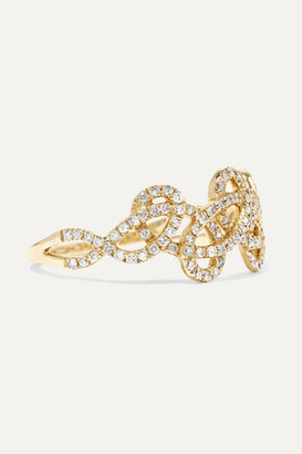 Anissa Kermiche Tatouage 9-karat Gold Diamond Ring - 6