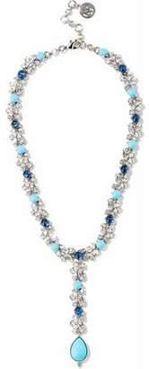 Ben-Amun Silver-Tone Swarovski Crystal And Stone Necklace