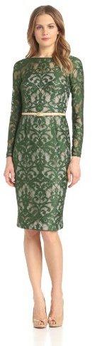 Maggy London Women's Scroll Lace V-Back Dress