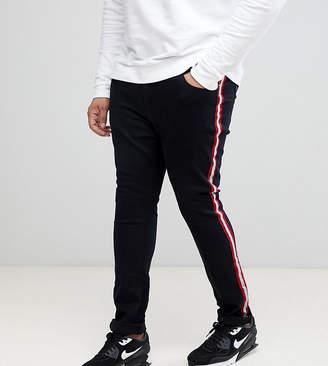 Liquor N Poker PLUS Skinny Jeans With Side Stripe