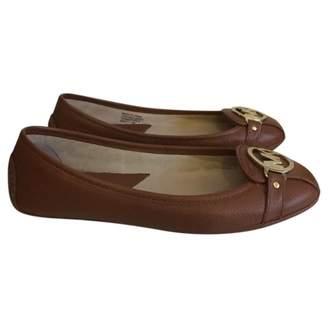 MICHAEL Michael Kors Camel Leather Flats