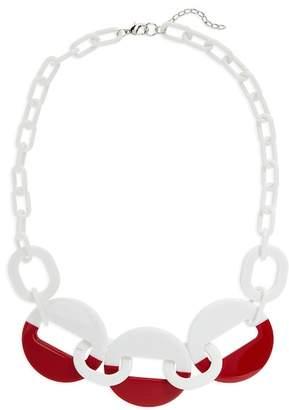 Natasha Accessories Resin Link Necklace
