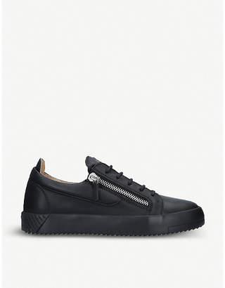 Giuseppe Zanotti Zip-embellished leather trainers