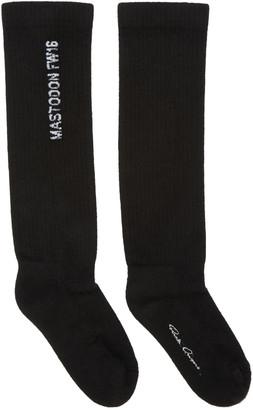 Rick Owens Black Cashmere Mastodon Socks $330 thestylecure.com