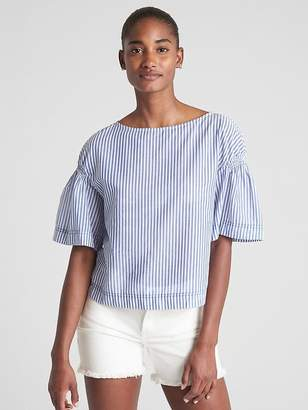 Gap Short Sleeve Stripe Blouse