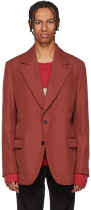 Acne Studios Red Tailored Blazer
