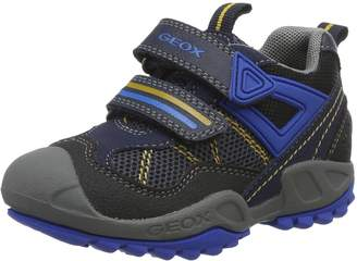 Geox Boy's J N.Savage B.A Shoes, Navy/Green