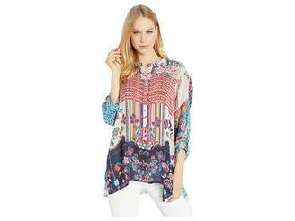 Johnny Was Patch Button Down Blouse