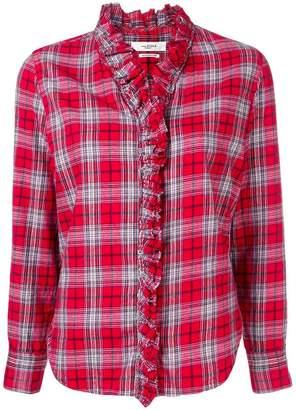 Etoile Isabel Marant plaid long-sleeve shirt