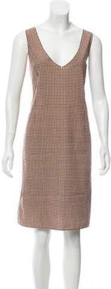Marni Printed Shift Dress Brown Printed Shift Dress