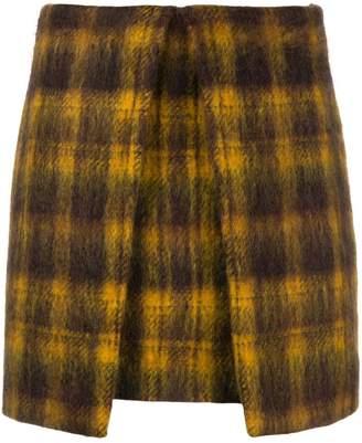 Aalto checked A-line mini skirt