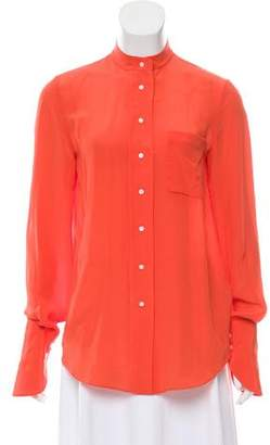 3.1 Phillip Lim Silk Long Sleeve Blouse
