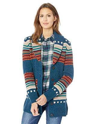 Pendleton Women's Lodge Stripe Cardigan Sweater