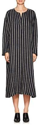 Pas De Calais Women's Striped Linen-Blend Tunic Dress