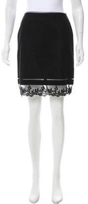 Blumarine Wool Lace-Trimmed Skirt