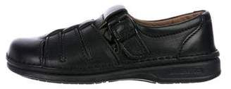 Birkenstock Leather Cutout Loafers
