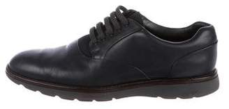 Z Zegna Leather Derby Shoes