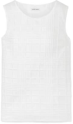 Tomas Maier Textured Cotton-gauze Top - White