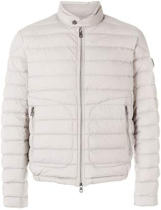 Moncler tab-over collar down-filled jacket
