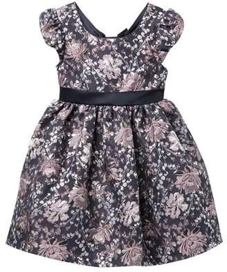 Iris & Ivy Brocade Bow Back Social Dress (Little Girls)