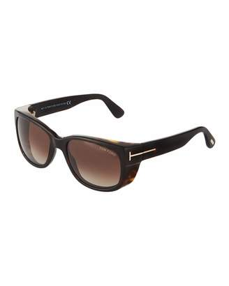 Tom Ford Square Acetate Sunglasses, Dark Bown
